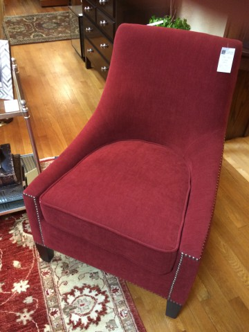 Nailhead Slipper Chair