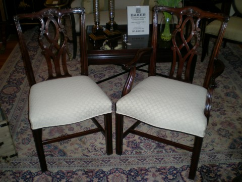 Kindel 18th Century Collection Mahogany Chippendale Chairs