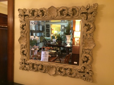 Aged Shell Mirror