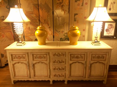 Baker French Decorated Sideboard