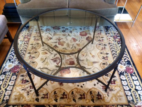 Iron and Glass Cocktail Table