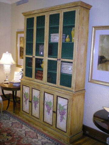Hand Painted Rustic Cabinet