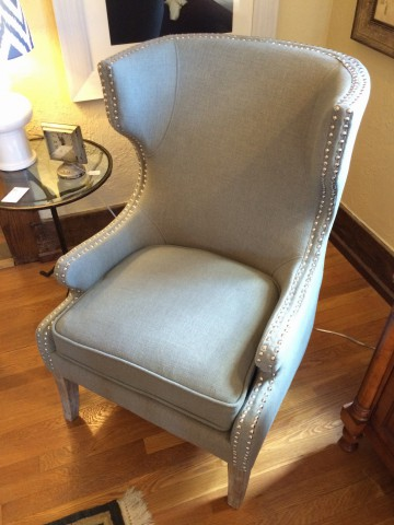 Nailhead Wing Chair