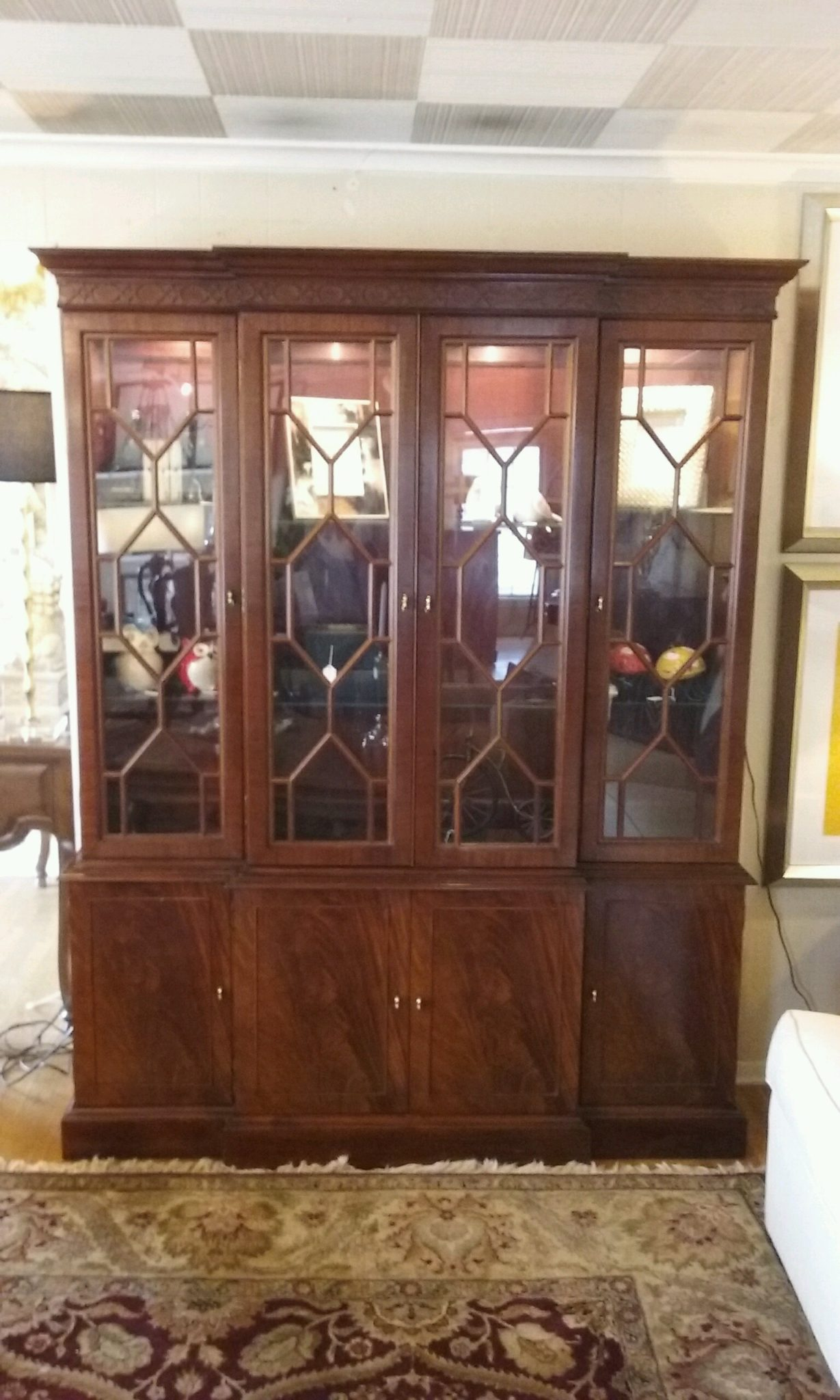 Hickory Chair Mahogany China Cabinet Windsor Cottage