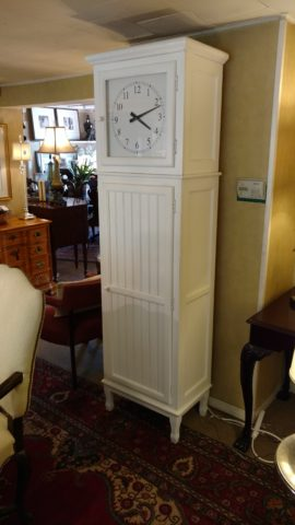 Painted Clock Cabinet