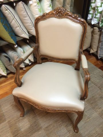 Chateau D'ax French Leather Arm Chair