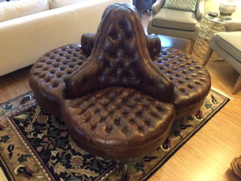 Regina Andrew Leather Boudoir Sofa