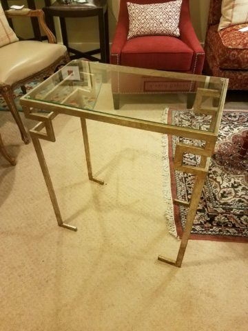 Iron & Glass Side Table