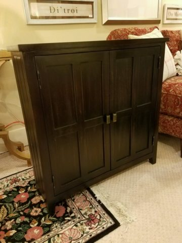 Painted Console Cabinet