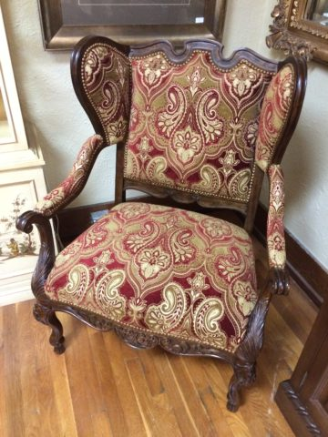 Century Carved Mahogany Wing Chair