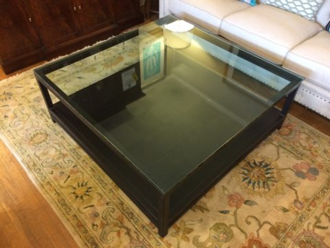 Eric Curtis Iron & Glass Cocktail Table