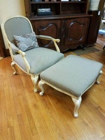 Lee Bergére Chair with Ottoman
