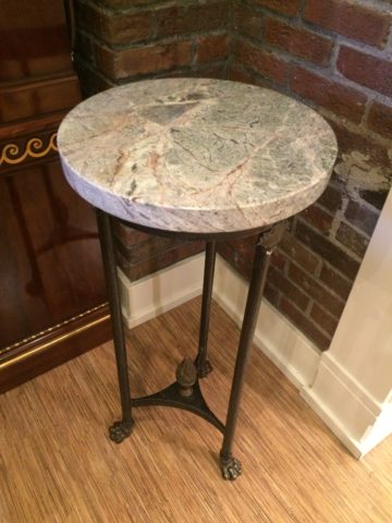 Iron & Marble Stand