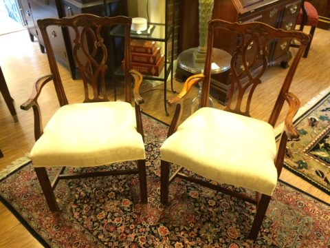 Kindel Chippendale Chairs, Pair