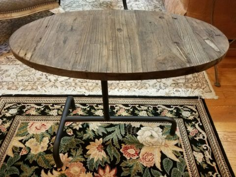 Elm & Iron Side Table