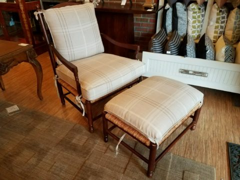 Wesley Hall Chair with Ottoman