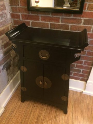 Small Painted Asian Cabinet