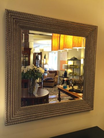 Beaded Washed Gold Mirror