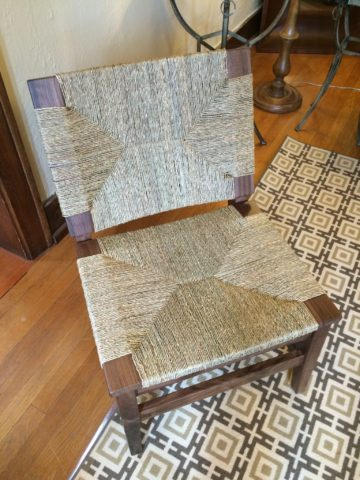 Woven Jute Side Chair