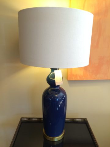 Blue and Gold Table Lamp