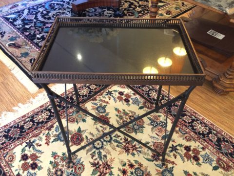 Iron & Marble Side Table