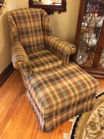 Lillian August Club Chair with Ottoman