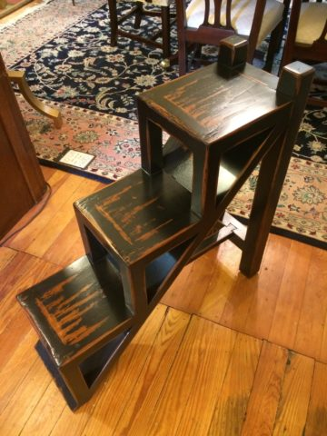 Painted Step Accent Table