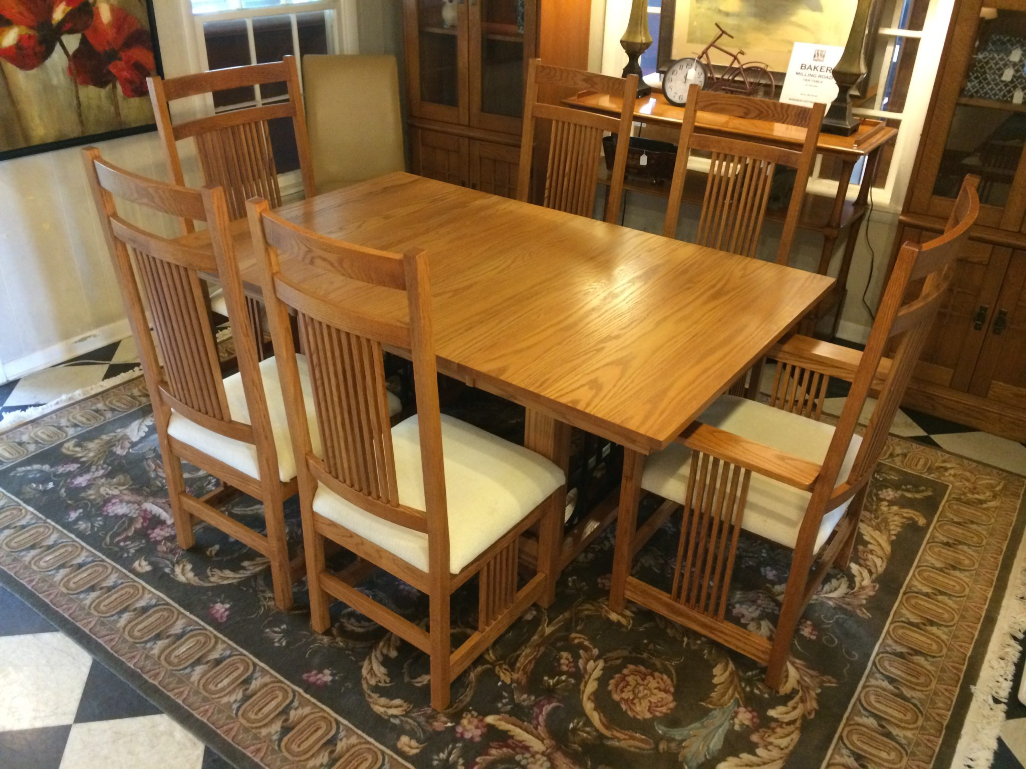 Canal Dover Mission Dining Table With Six Chairs