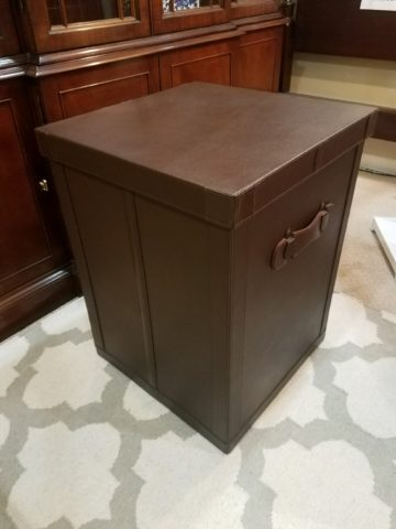 Leather Trunk Table