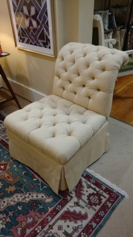 Baker Tufted Slipper Chair