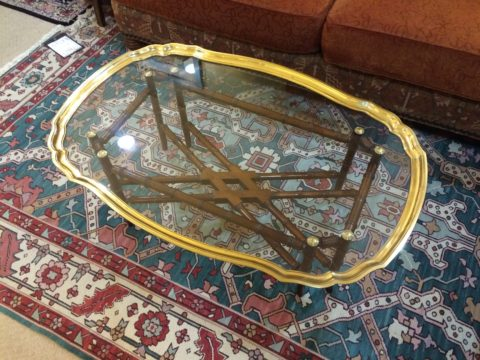 Baker Brass Tray Cocktail Table