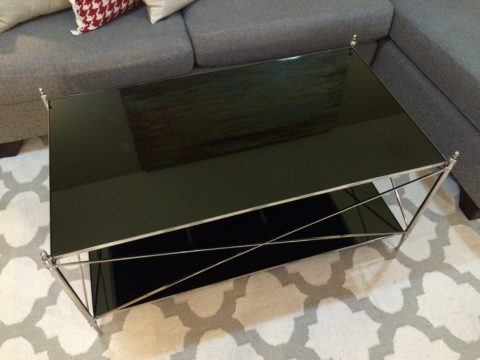 Iron & Glass Cocktail Table