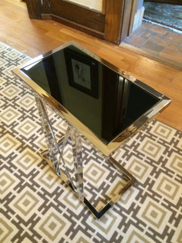 Iron & Glass Side Table, Small