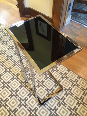Iron & Glass Side Table, Large