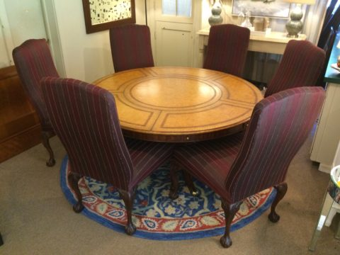 Charles Thomas Dining Table with Six Sherrill Chairs