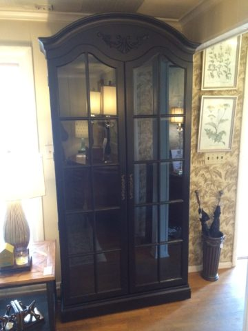 Painted Bookcase Cabinet