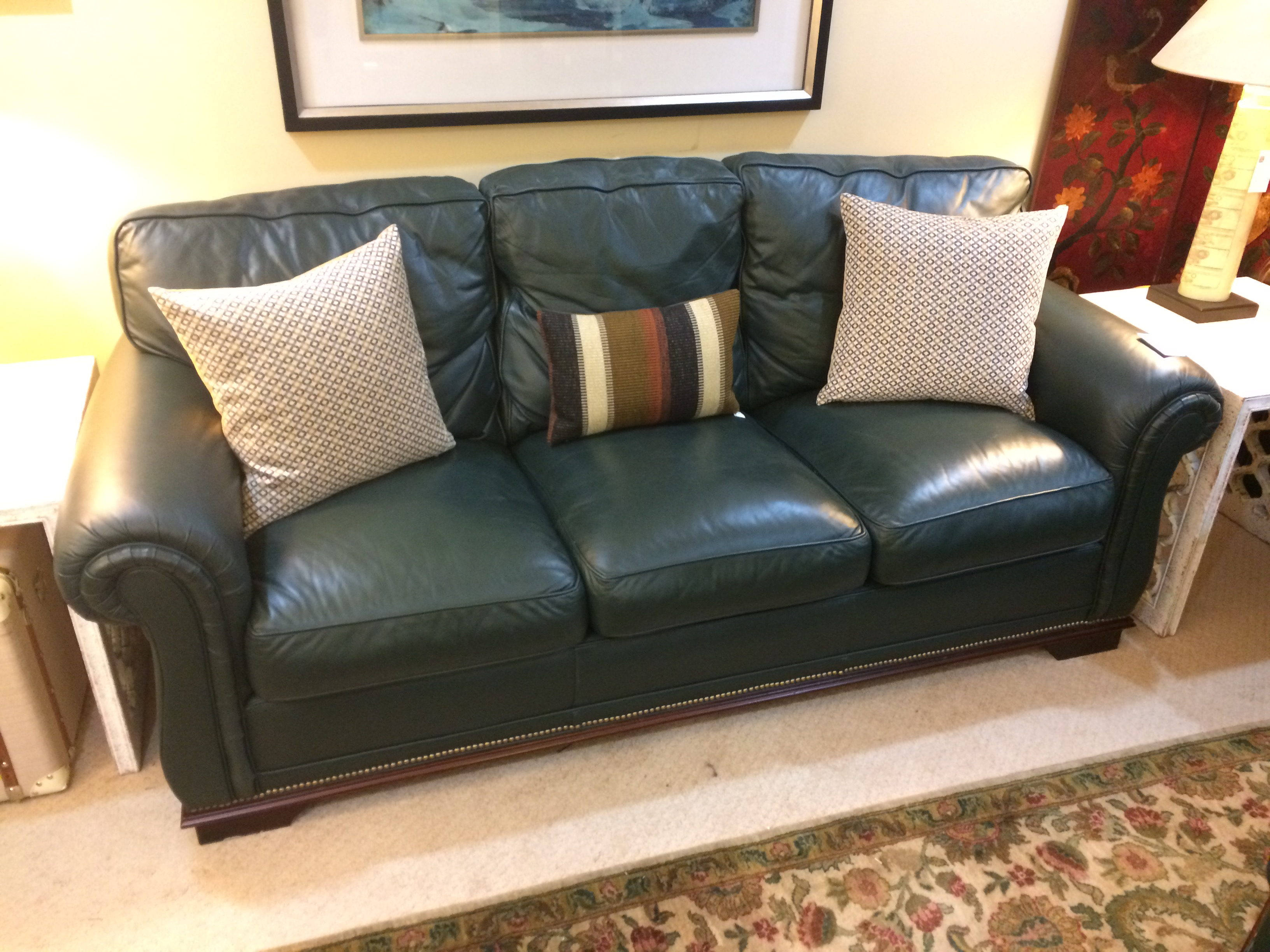 Classic Leather Sofa | Windsor Cottage | Windsor Cottage